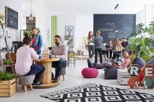 Open space dans un coworking